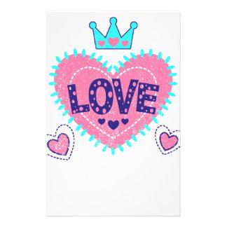 Papelaria Coroa e corações do amor