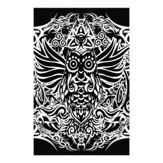 Papelaria Coruja tribal do tatuagem