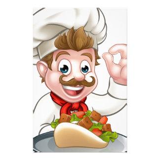 Papelaria Cozinheiro chefe dos desenhos animados com Kebab