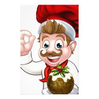 Papelaria Cozinheiro chefe no chapéu do Natal que guardara o