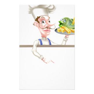 Papelaria Cozinheiro chefe que guardara o peixe com batatas