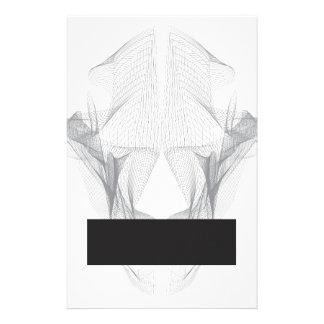 Papelaria Crânio abstrato do urso