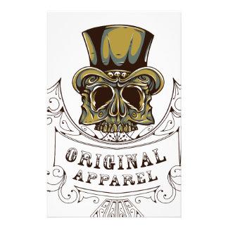 Papelaria crânio assustador do roupa original