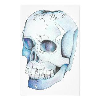 Papelaria Crânio de cristal rachado