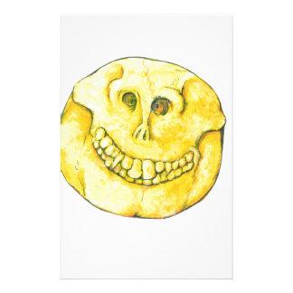 Papelaria Crânio do smiley face