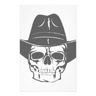 Papelaria Crânio do vaqueiro com chapéu