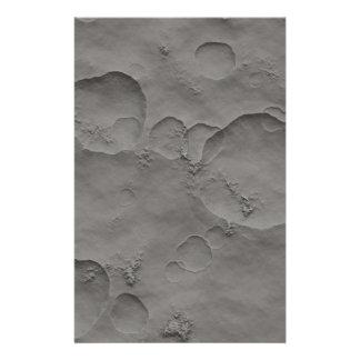 Papelaria Crateras de lua, superfície lunar