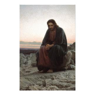 Papelaria Cristo na região selvagem - belas artes de Ivan