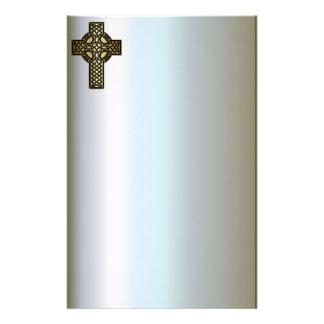 Papelaria Cruz celta do nó no ouro e no preto