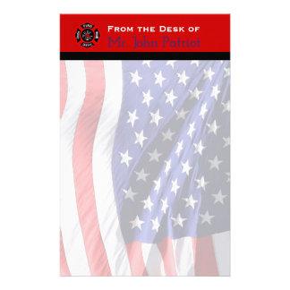 Papelaria Cruz maltesa americana de bandeira | do presente