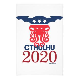 Papelaria Cthulhu para o presidente 2020