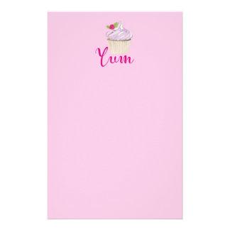 Papelaria Cupcake cor-de-rosa sonhador com framboesa Yum!