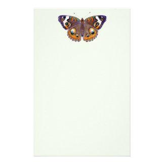 Papelaria Da borboleta comum do Buckeye do azul pintura