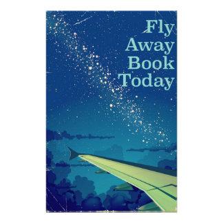 Papelaria Da mosca do livro poster ausente do vôo do vintage