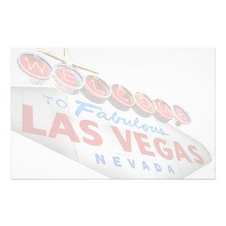 Papelaria Dê boas-vindas a Las Vegas fabuloso a artigos de