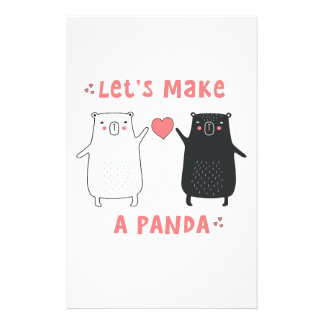 Papelaria deixe-nos fazer uma panda