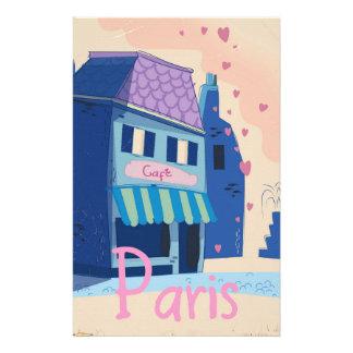Papelaria Desenhos animados do vintage da rua de Paris
