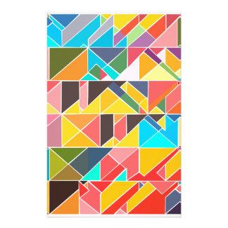 Papelaria Design abstrato triangular