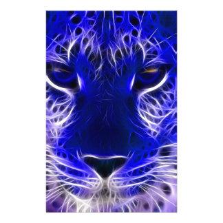 Papelaria design azul do fractal da chita