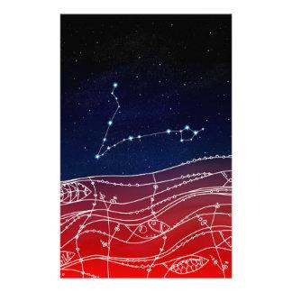 Papelaria Design da constelação dos peixes