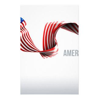 Papelaria Design da fita da bandeira americana