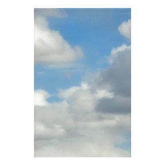Papelaria Design da foto da nuvem 9 para produtos