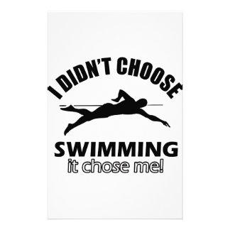 Papelaria Design da natação