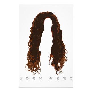 Papelaria Design do cabelo de Josh