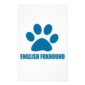 PAPELARIA DESIGN DO CÃO DO FOXHOUND INGLÊS