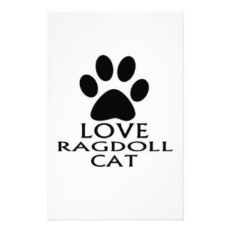 PAPELARIA DESIGN DO CAT DO AMOR RAGDOLL