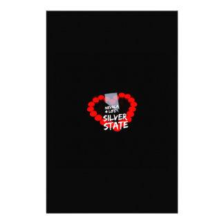 Papelaria Design do coração da vela para o estado de Nevada