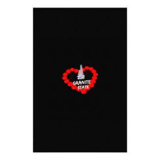 Papelaria Design do coração da vela para o estado de New