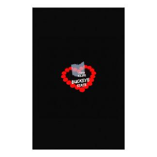 Papelaria Design do coração da vela para o estado de Ohio