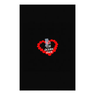 Papelaria Design do coração da vela para o estado de Rhode -