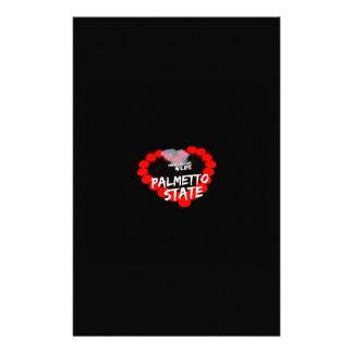 Papelaria Design do coração da vela para o estado de South