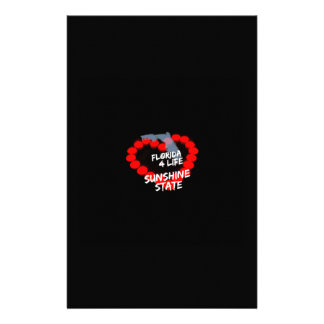 Papelaria Design do coração da vela para o estado do Flórida