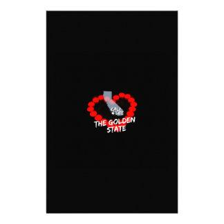 Papelaria Design do coração da vela para os Estados da