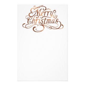 Papelaria design do roteiro do Feliz Natal do Cobre-olhar