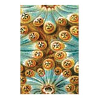 Papelaria design do tan do azul das formas