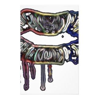 Papelaria Design dos lábios do arco-íris