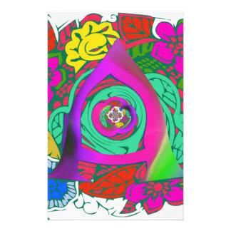Papelaria Design Monogrammed floral colorido bonito do