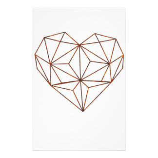 Papelaria design oxidação-geométrico do coração