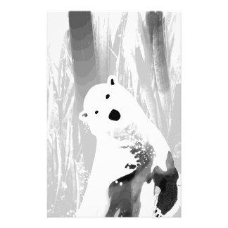 Papelaria Design preto e branco original do urso polar