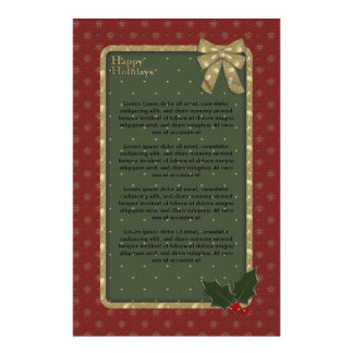 Papelaria Design tradicional do Natal
