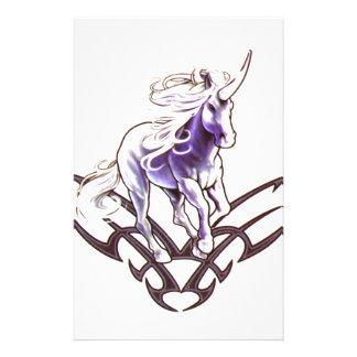 Papelaria Design tribal do tatuagem do unicórnio