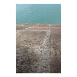 Papelaria Deslizamento no mar azul