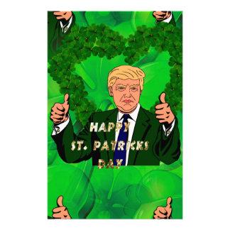 Papelaria Dia de São Patrício Donald Trump