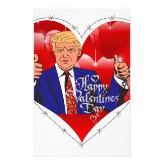 Papelaria dia dos namorados feliz Donald Trump
