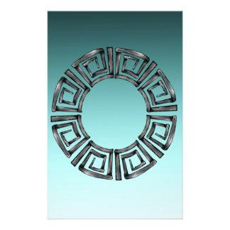 Papelaria Disco grego retro de pedra