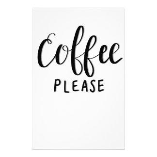 Papelaria Do CAFÉ caligrafia POR FAVOR
